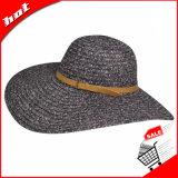 Sombrero de paja de papel de Sun de la playa del verano flojo de la paja