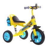 Езда на трицикле колеса цвета 3 желтого цвета Bike трицикла силы для малышей, котор нужно ехать дальше
