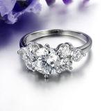 Anel de cristal instantâneo super simples da forma das mulheres
