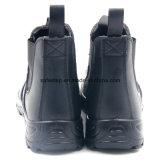 Zapatos de seguridad de acero de la punta del cuero liso de la acción