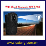 IP68 135 WiFi usés par corps grand-angulaire 4G 3G Bluetooth GPS de support d'appareils-photo de police de degré