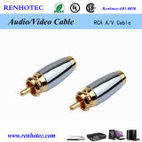 Conector audio del audio del enchufe del RCA del cable 3.5m m del RCA