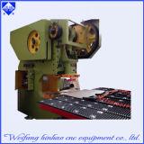 Máquina do perfurador de furo da placa de aço com plataforma de alimentação