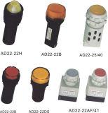 Indicador del interruptor pulsador usada en la industria