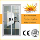 Portes intérieures en alliage d'aluminium revêtues de poudre blanche (SC-AAD026)
