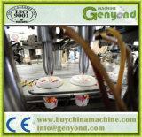 Машина завалки чашки мороженного нержавеющей стали