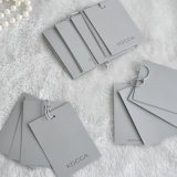 Garment를 위한 주문을 받아서 만들어진 Grey Paper Hangtag Five Pieces