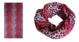 Sciarpa 100% di disegno del leopardo del poliestere (YT-1083)