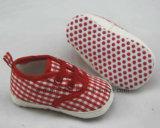 Песок печати хлопка обувает ботинки младенца Ws1039