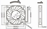 60mm Brushless DC Ventilador 12V 24V Outdoor Gabinete Ventilador 60X60X10mm