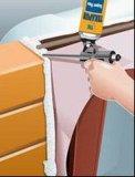 Tür-Isolierung kalfatern Festlegung-Polyurethan PU-Schaumgummi-dichtungsmasse