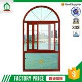 Aluminio de la buena calidad que resbala la ventana arqueada (T-G-A-S-W-001)