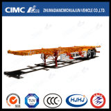 Cimc Platform를 가진 Huajun 40FT 2axle Skeleton Container Semi-Trailer