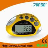 Reloj contrario del podómetro del kilómetro del clip de la correa que activa (JS-210B)