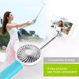 Mini bâton de Monopod Selfie, bâton de Selfie avec le mini ventilateur