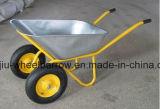 Wheelbarrow Wb7400 do revestimento do pó