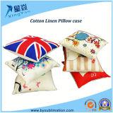 Forme carrée taie d'oreiller de toile de coton de sublimation de 40*40cm/de 45*45cm
