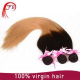 De duas cores de tom de Ombre cabelo humano brasileiro em linha reta