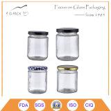 vasi di vetro del miele di figura rotonda 250ml con la protezione dell'aletta