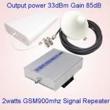 répéteur mobile de signal de 5watts GSM900MHz, servocommande de signal de téléphone cellulaire de 33dBm GSM900MHz, servocommande triple large de signal du répéteur 2g 3G de signal de bande de GSM/Dcs/WCDMA
