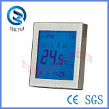 Регулятор температуры топления пола металла панели экрана касания электрический (MT-10-D)