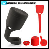 Waterproof sans fil Bluetooth Silicone Speaker avec le lecteur MP3 de Hook Clip