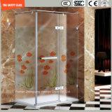 la impresión del Silkscreen de 3-19m m/el grabado de pistas ácido/heló/modelo Safetytempered/vidrio endurecido para el hogar, cuarto de baño del hotel/pantalla de ducha de la ducha con el certificado de SGCC/Ce&CCC&ISO