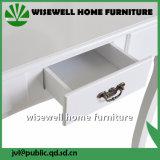 化粧台の腰掛けの白い構成の毛の釘の引出しの寝室の机