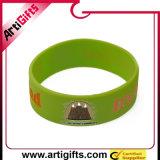 Abnehmer-Silikon-Handgelenk-Band mit geprägtem Firmenzeichen