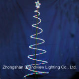 Weihnachten LED Rope Spiral Tree Lights mit CER RoHS SGS