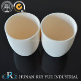 Crogiolo di ceramica di corindone dell'allumina per il laboratorio