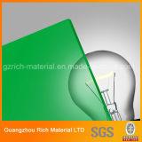 3mm grüne Form-Acrylblatt für das Bekanntmachen/Vorstand des PlastikPMMA Pelxiglass