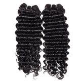 Da cor natural Curly profunda brasileira do cabelo do Virgin do cabelo 4 PC/Lot pacotes não processados baratos de venda quentes Curly profundos do cabelo