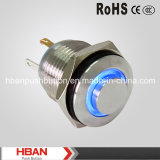 Hban 16mm Drukknop van High Head Metal met LED Light