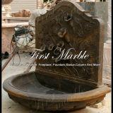 Fontana di parete di pietra di marmo di Giallo Marrone della fontana del granito Mf-772
