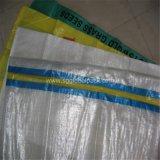 Saco tecido PP desobstruído para empacotar a batata de 25kg 30kg
