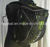 Trouxa de ciclagem do saco do capacete do curso dos esportes da bicicleta da motocicleta da energia do monstro