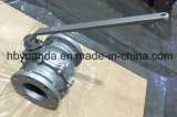 JIS 10K Cast Iron Floating Full Bore Ball Valve Flange Ende