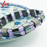 ローズ水晶ブレスレットと磁気Htb-111black