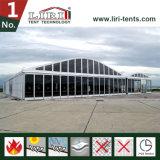 贅沢な党のための白いABS壁が付いている20X50mのアーチのゆとりのスパンのテント