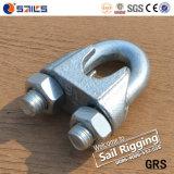 Clip malléable DIN741 de câble métallique de Galv