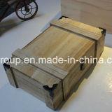 Boîte en bois à vin de Paulownia de modèle populaire