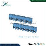 파란 주거를 가진 PCB 나사식 터미널 구획 피치 5.0mm 9p 180deg 유형