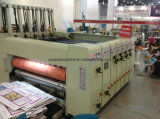 Pizaaボックスのための型抜き機械に細長い穴をつける4つのカラーFlexoの印刷
