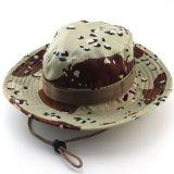 Cubo al aire libre del borde de la caza de los hombres anchos de Boonie que pesca el sombrero militar
