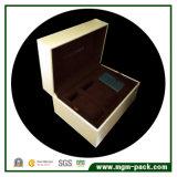 Rectángulo de reloj de madera de encargo de lujo con dos almohadillas