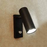 360 lâmpada de parede moderna do quarto do diodo emissor de luz da câmara de ar 3W do metal da cabeça universal da rotação do grau