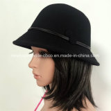 Trilby Hat Form-der bunten gefälschten Wolle-Dame mit Hut-Selbstgewebe und Tasten-Dekoration
