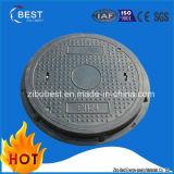En124 복합 재료 SMC/BMC 둥근 맨홀 뚜껑 중국제