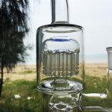 De dubbele Rokende Pijpen van het Water van het Glas van de Filter voor Waterpijp genieten van (S-GB-261)